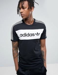 Черная футболка adidas Originals London Pack Block BQ9366 - Черный