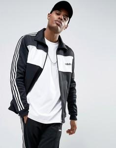 Черная спортивная куртка колор блок adidas Originals London Pack BQ9368 - Черный