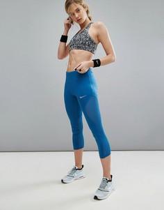 Укороченные леггинсы Nike Running Power - Синий