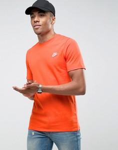 Оранжевая футболка с вышивкой логотипа Nike Futura 827021-891 - Оранжевый