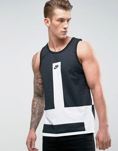 Белая майка колор блок Nike 847589-101 - Белый