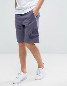 Фиолетовые махровые шорты Nike 833959-539 - Фиолетовый