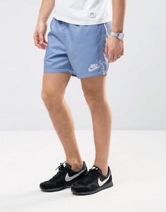 Трикотажные синие шорты Nike 832230-450 - Синий