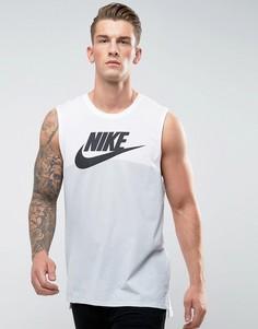 Белая майка с логотипом Nike Futura 847509-100 - Белый