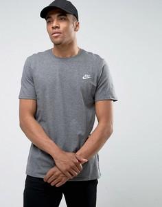 Серая футболка с вышивкой логотипа Nike Futura 827021-071 - Серый