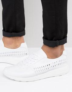 Белые кроссовки с плетеной вставкой ASOS - Белый