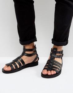 Черные кожаные сандалии с ремешком на щиколотке KG By Kurt Geiger - Черный