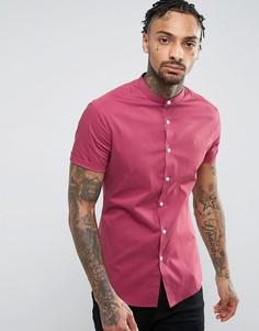 Бордовая супероблегающая рубашка ASOS - Красный
