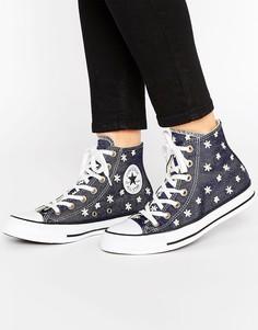 Высокие кеды с вышивкой Converse Chuck Taylor All Star - Мульти