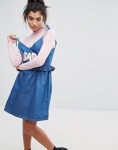 Джинсовое платье Lazy Oaf - Синий