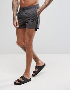 Короткие серые шорты для плавания с кантом ASOS - Серый