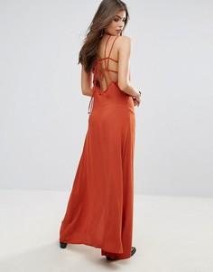Платье макси с открытой спиной и перекрестами Wyldr In Your Eyes - Оранжевый