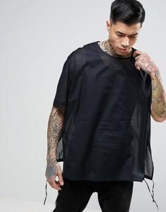 Свободная полупрозрачная рубашка черного цвета ASOS - Черный