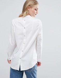 Рубашка без воротника ADPT Notes - Белый