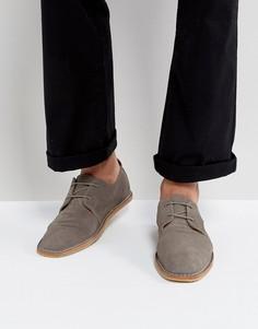 Замшевые туфли со шнуровкой Zign - Серый