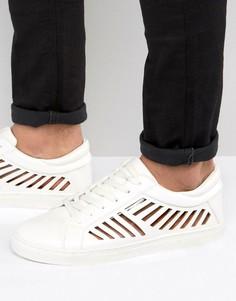 Белые кроссовки с вырезами ASOS - Белый