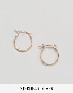 Серебряные серьги-кольца 15 мм с покрытием из розового золота ASOS - Медный