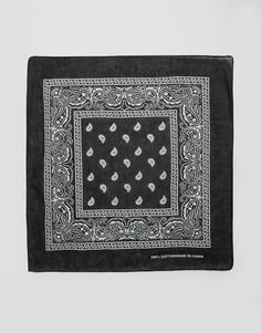 Черная бандана с принтом пейсли 7X - Черный
