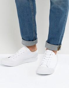 Белые кеды на шнуровке с резиновой отделкой ASOS - Белый