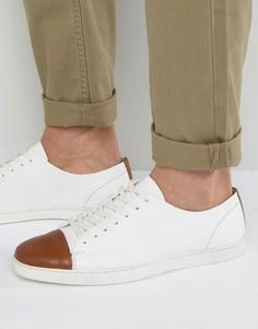 Белые низкие кожаные кроссовки Dune Tate Lo - Белый