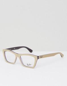 Очки с прозрачными стеклами Ray Ban - Бежевый