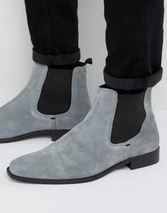 Серые замшевые ботинки челси Dune Marky - Серый