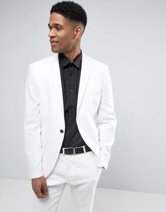 Узкий льняной пиджак Selected Homme - Белый