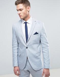 Узкий льняной пиджак Selected Homme - Синий