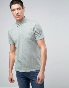 Меланжевая футболка-поло Selected Homme - Зеленый
