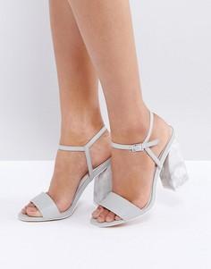 Босоножки на каблуке ASOS HOAX - Серый