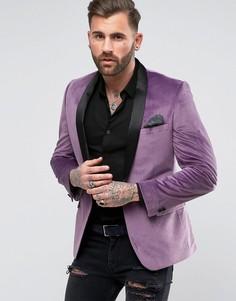 Бархатный пиджак с шалевым воротником Rudie - Розовый