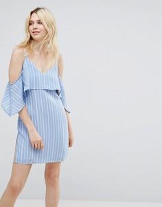 Платье с вырезами на плечах A State Of Being Unknown - Синий