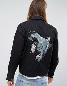 Куртка с вышивкой Weekday - Черный