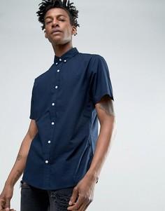 Поплиновая рубашка с коротким рукавом Troy - Темно-синий