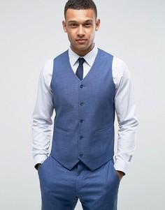 Синий облегающий жилет ASOS WEDDING - Синий
