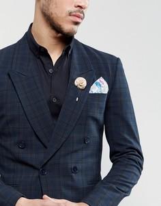 Платок для нагрудного кармана со звериным принтом Gianni Feraud Liberty - Серый