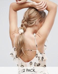2 резинки для волос с цветами ASOS - Кремовый