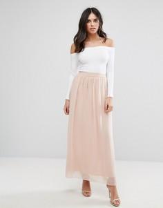 Длинная пляжная юбка Soaked In Luxury - Розовый