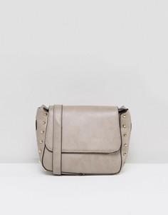 Структурированная сумка через плечо Yoki Fashions - Светло-серый