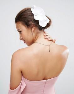 Заколка для волос с орхидеей ASOS Wedding - Белый
