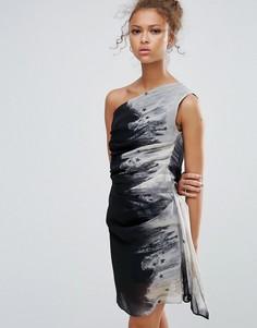 Платье мини на одно плечо Religion - Черный