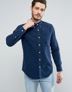Темно-синяя оксфордская рубашка классического кроя Abercrombie & Fitch Classic - Темно-синий