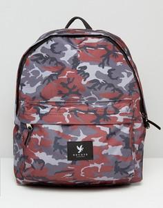 Рюкзак с камуфляжным принтом Devote - Серый