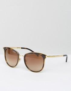 Классические солнцезащитные очки кошачий глаз в черепаховой оправе Michael Kors - Коричневый