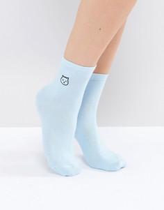 Носки с вышивкой ASOS - Синий