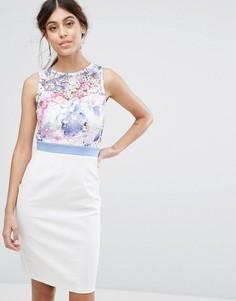 Платье миди 2 в 1 с кружевным топом Paper Dolls - Мульти