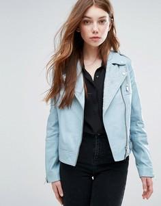 Байкерская куртка с вышивкой Urbancode - Синий