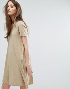 Свободное платье с высоким воротом Cheap Monday - Бежевый
