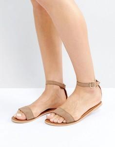 Замшевые сандалии с ремешком на щиколотке Boohoo - Рыжий