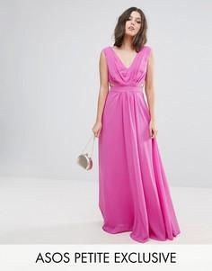 Платье макси с вырезами по бокам ASOS PETITE - Розовый